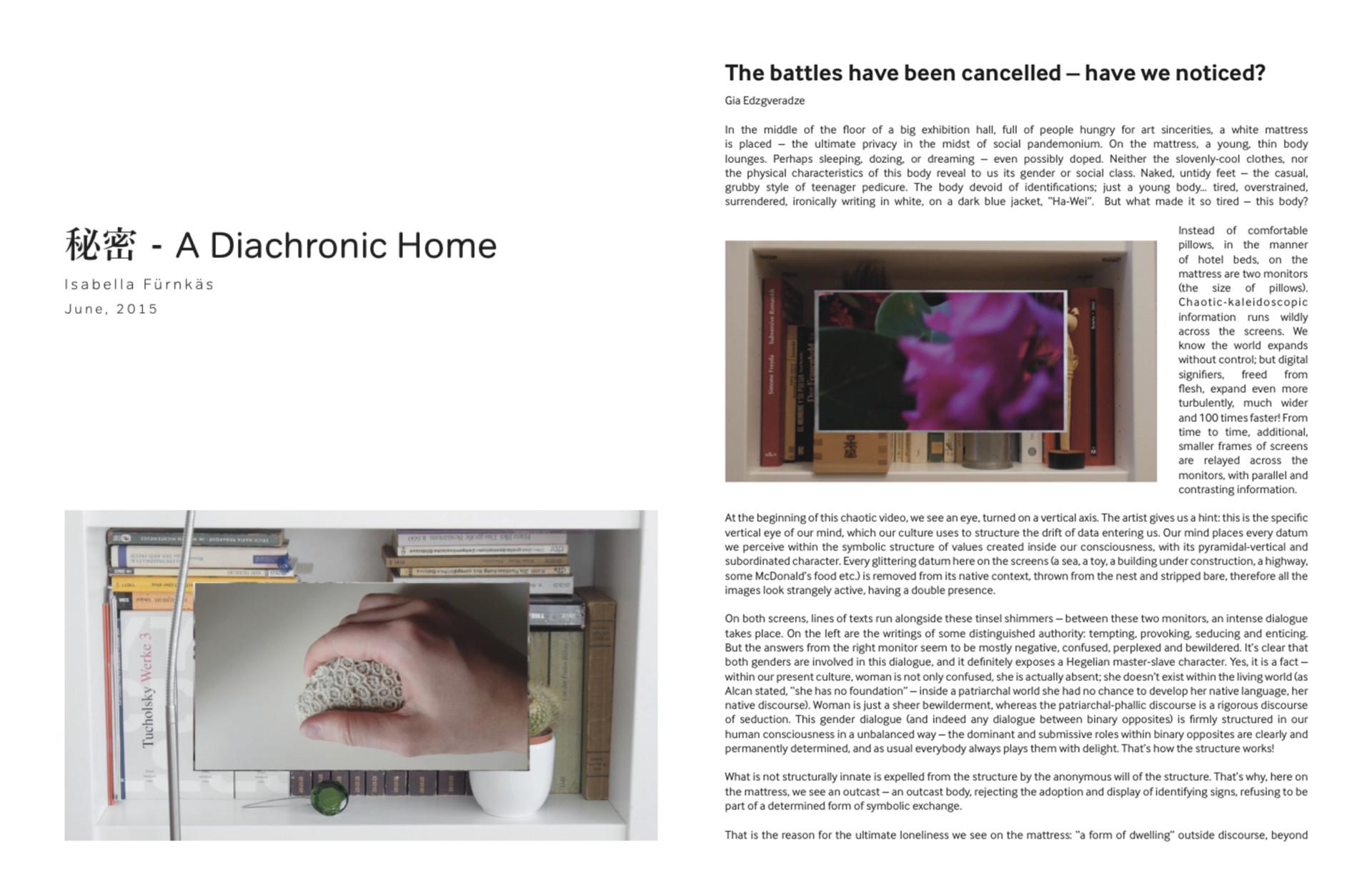 Isabella Fürnkäs 秘密 – A Diachronic Home